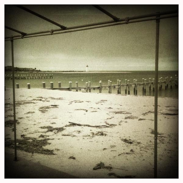beach framed