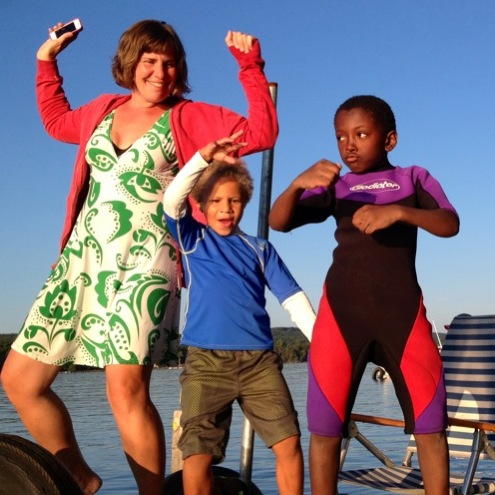 dock dancing Mama C and the boys style